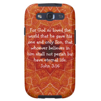 For God so loved the world ...   John 3:16 Galaxy S3 Cases