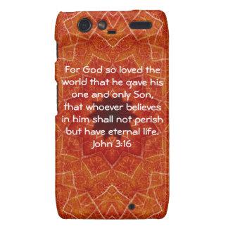 For God so loved the world ...   John 3:16 Motorola Droid RAZR Cases