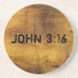 For God So Loved the World...John 3:16 Drink Coaster