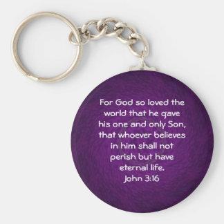 For God so loved the world ...   John 3:16 Keychain