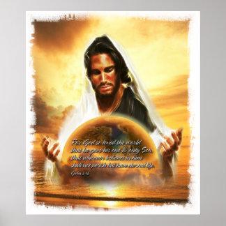 For God so Loved the World... John 3:16 Poster