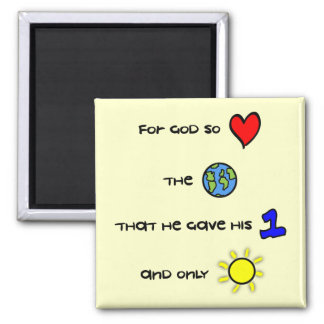 For God so Loved the World magnet