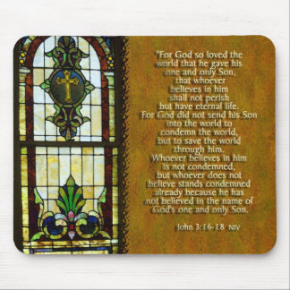For God so loved the world..... Mouse Pads