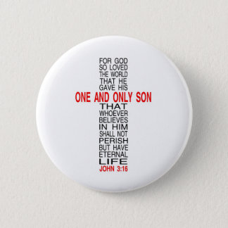 For God So Loved The World Poster Pinback Button