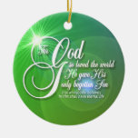 For God So Loved The World Round Ornament