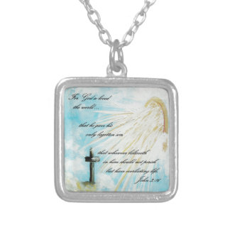 For God So Loved the World Silver Plated Necklace