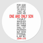 For God So Loved The World sticker