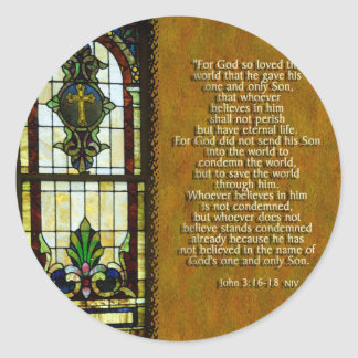 For God So Loved The World... Classic Round Sticker