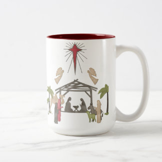 For God So Loved The World Two-Tone Coffee Mug