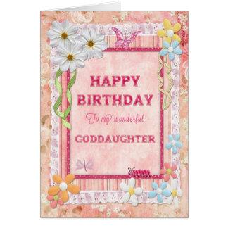 For Goddaughter, craft birthday card