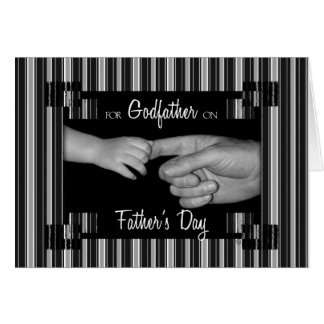for Godfather on Father's Day Greeting Card
