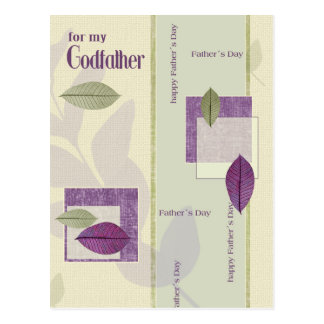 For Godfather on Father's Day Postcard