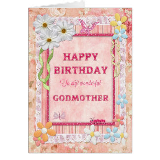 For Godmother, craft birthday card