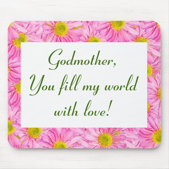 For Godmother Or Anyone Pretty Floral Mousepad