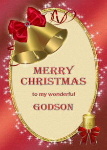 for godson traditional christmas card