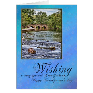 For grandfather on Grandparents day Greeting Card