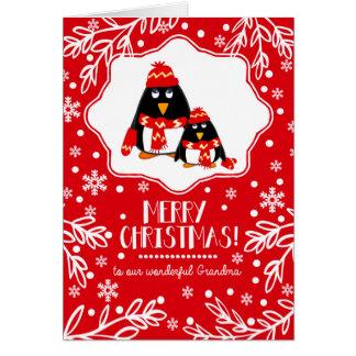 For Grandma at Christmas Custom Greeting Cards