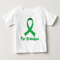 For Grandma Green Ribbon Awareness Gift Baby T-Shirt
