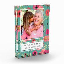 For Grandma on Mother's Day. Custom Photo Block