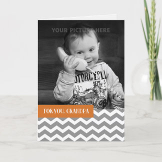 For Grandpa on Father's Day Custom Photo Card