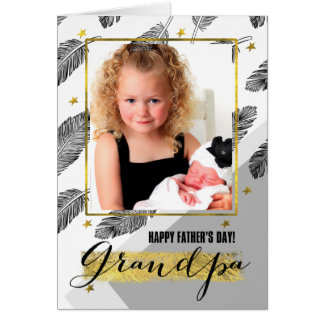 For Grandpa on Father's Day Custom Photo Cards