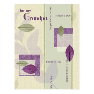 For Grandpa on Father's Day Customizable Postcards