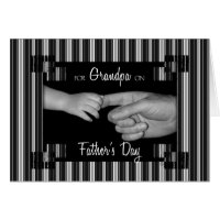 for Grandpa on Fathers Day Pinstriped Card