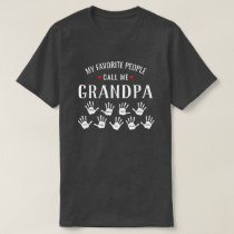 For Grandpa with Grandkids Names Personalized T-Shirt