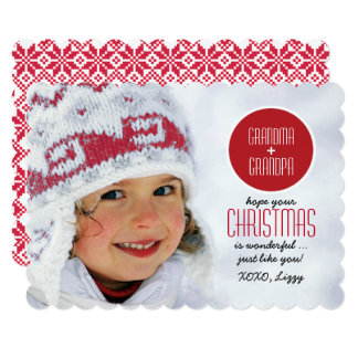 For Grandparents at Christmas Custom Photo Cards
