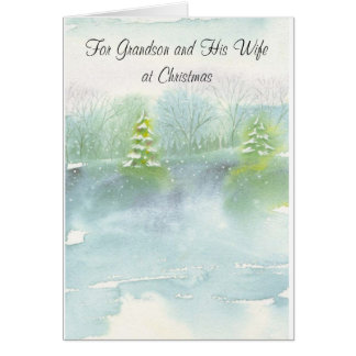 For Grandson and His Wife at Christmas Card