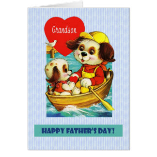 For Grandson on Father's Day Card