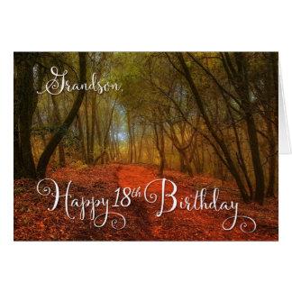 for Grandson's 18th Birthday - Woodland Path Card
