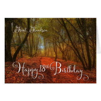 for Great Grandson's 18th Birthday - Woodland Path Card