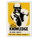 For Greater Knowledge Card