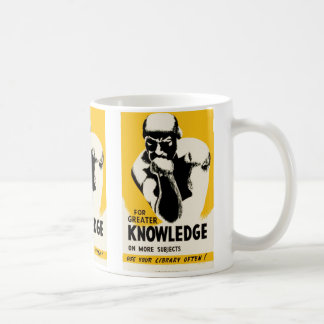 For Greater Knowledge Classic White Coffee Mug