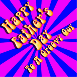 For Groovy Guy  Retro Father's Day (Pink & Blue) Standing Photo Sculpture