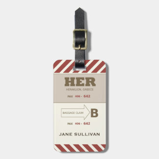 For HER A Baggage Claim Retro Look Luggage Tag