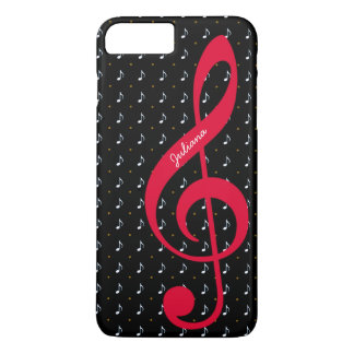 for her a personalized treble clef music iPhone 8 plus/7 plus case