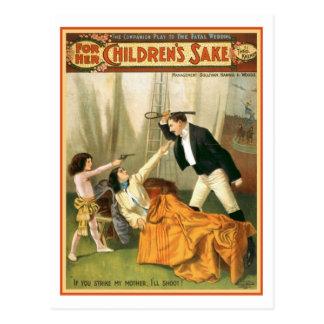 For Her Children s Sake Vintage Theater Poster Post Cards