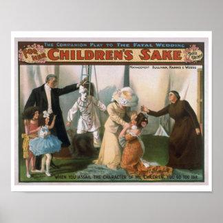 For Her Children's Sake Vintage Theater Poster
