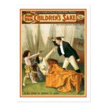 For Her Children's Sake Vintage Theater Poster Postcard