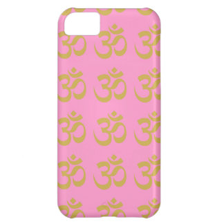 FOR HER VALENTINE PINK W. GOLD OMS yoga Cover For iPhone 5C