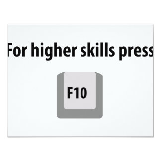 for higher skills press F 10 counter strike icon Card