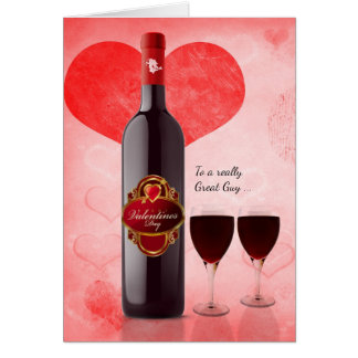 for Him on Valentine's Day Wine Them Card