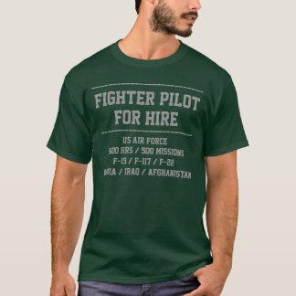 for hire fighter pilot customise CV t-shirt