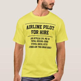 for hire pilot customise CV t-shirt