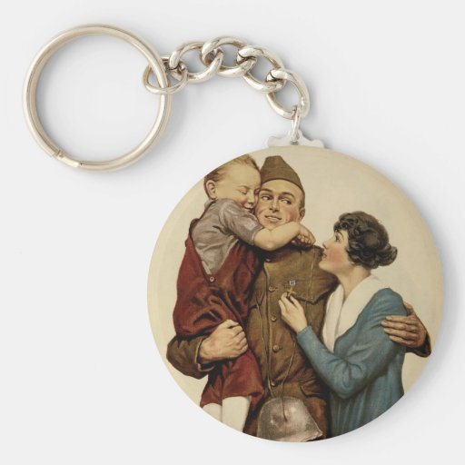 For Home and Country Key Chain
