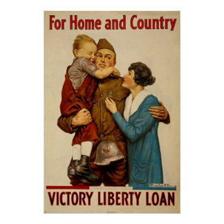 For Home and Country Victory Liberty Loan Poster