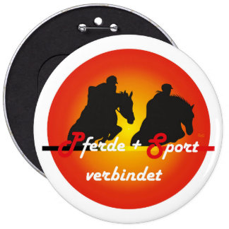 For horses and equestrian sports lover button