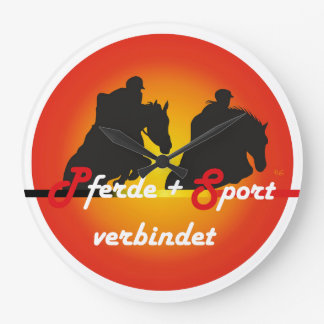 For horses and equestrian sports lover clock